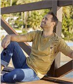 Lot de 2 Tee-Shirts Col Tunisien Maori Spirit preview2