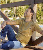 Pack of 2 Men's Maori Spirit T-Shirts - White Camel preview2