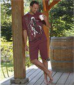 Kurzer Schlafanzug Escape Canada aus Baumwolle preview1