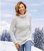 Melanżowy sweter z golfem preview1