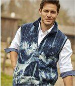 Fleecová vesta spotiskem vlků