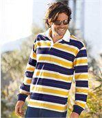 Men's Striped Polo Shirt - Jersey preview1
