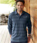 Blau gestreiftes Poloshirt preview1