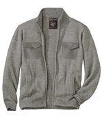 Pletený sveter s praktickými vreckami preview2