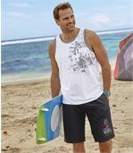 Men's Surf Print Swim Shorts