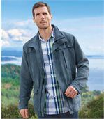 Outdoorjacke in Wildlederoptik