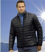 Men's Black Water-Repellent Padded Jacket preview1