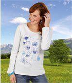 T-Shirt mit Blumenmotiv preview1