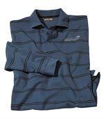 Blau gestreiftes Poloshirt preview2