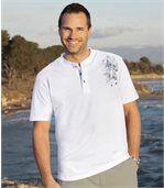 Zestaw 2 t-shirtów z dekoltem zapinanym na guziki preview2