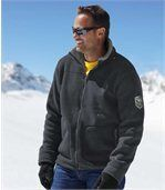 Men's Grey Winter Fleece Jacket with Sherpa Lining preview1