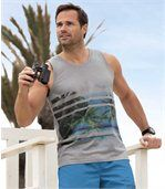 Set van 2 Beach Paradise tanktops preview3