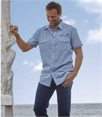 Men's Blue Palm Beach Poplin Shirt preview2
