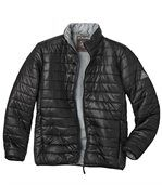 Men's Black Water-Repellent Padded Jacket preview2