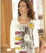 T-Shirt mit Sonnenblumenmotiv  preview1