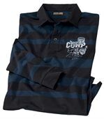 Men's Striped Rugby Shirt - Blue Black  preview2