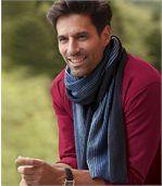 Pletený šál spásikmi preview1