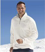 Pack of 3 Men's Half Zip Jumpers - White Black Blue preview3