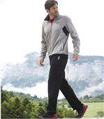 Zweifarbiger Jogginganzug aus Molton preview1