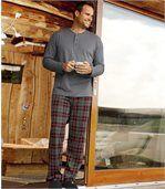 Bavlnené pyžamo  z kombinovaného materiálu preview1