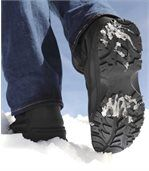 Men's Black Winter Fur Boots