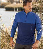 2er-Pack zweifarbige Poloshirts mit RV-Kragen preview2