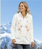 Haftowana bluza z polaru i trykotu