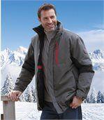 Men's Grey All-Terrain Parka Coat preview1