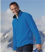 Pack of 3 Men's Half Zip Jumpers - White Black Blue preview4