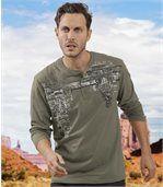 Zestaw 2 t-shirtów z dekoltem na guziki Adventure preview2