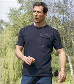 Zestaw 3 t-shirtów z dekoltem zapinanym na guziki preview3