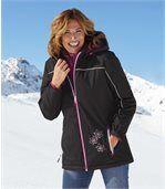 Women's Black Ski Coat preview3