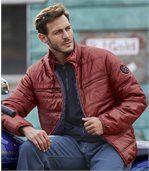 Men's Top Comfort Padded Jacket - Burgundy