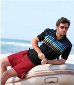 Pack of 2 Men's Summer Polo Shirts - Black White
