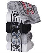 Pack of 5 Pairs of Men's Sports Socks - Grey White Black preview1