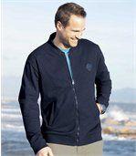 Men's Navy Blue Zip Up Jacket - Brushed Fleece  preview1