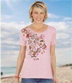 T-Shirt mit Blumendekor preview1