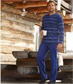 Gestreifter Pyjama aus Microfleece preview1