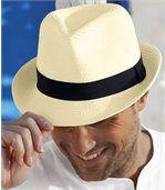Slamený klobúk Trilby preview1