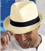 Slaměný Trilby klobouk preview1