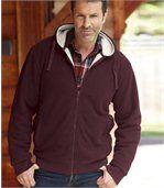Fleece hoodie met sherpa preview1