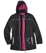 Women's Black Ski Coat preview2