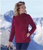 Flísový sveter s potlačou preview1
