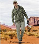 Men's Pale Green Casual Canvas Trousers preview3