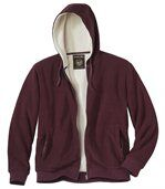 Fleece hoodie met sherpa preview2