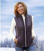 Women's Purple Quilted Gilet preview1