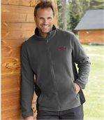 Pack of 2 Men's Atlas® Fleece Jackets - Burgundy Grey
