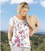 T-Shirt Blumen und Schmetterlinge preview1