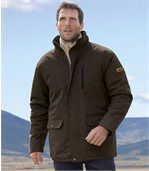Men's Brown Parka Coat - Atlas Expedition