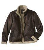 Men's Brown Faux Suede Coat - Adventurer Style preview2